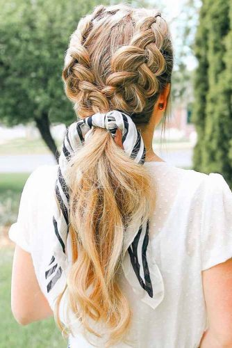Fancy Braids With Shawl Ideas Ponytail #braids #ponytail #longhair