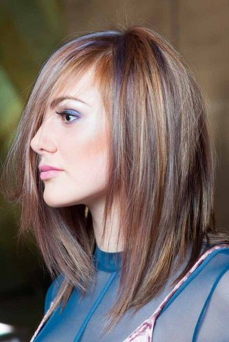 Mid Length Hairstyles With Fringe And Layers
