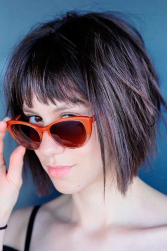 Short Length Hairstyles With Bangs