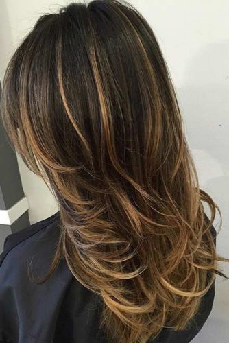 Black To Bronde Ombre