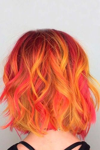 Blonde and Fiery Orange Ombre