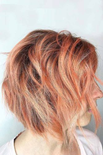 Red with Blonde Streaks