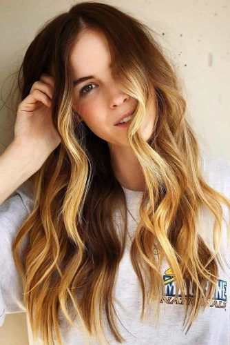 Sunny Blonde For Brown #blondehair #blondeombre #ombre