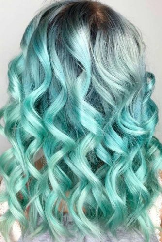 Mint Green Balayage