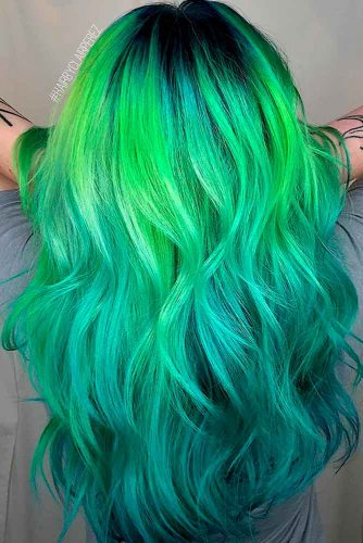 Reverse Green Ombre