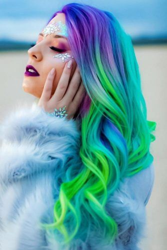 Mermaid Coloring With Neon Green #greenhair