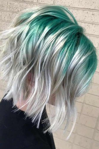 Aqua Green To Silver Color #greenhair #haircolor