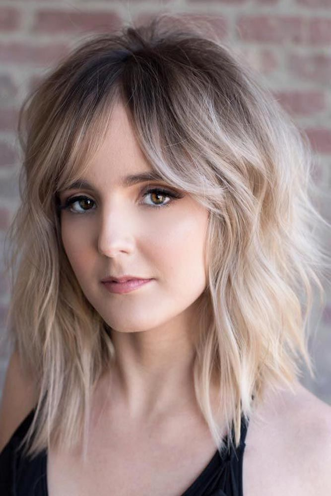 36 Cute Medium Length Hairstyles With Bangs Lovehairstyles
