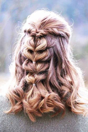 Girly Half Up Half Down Hairstyles picture 2