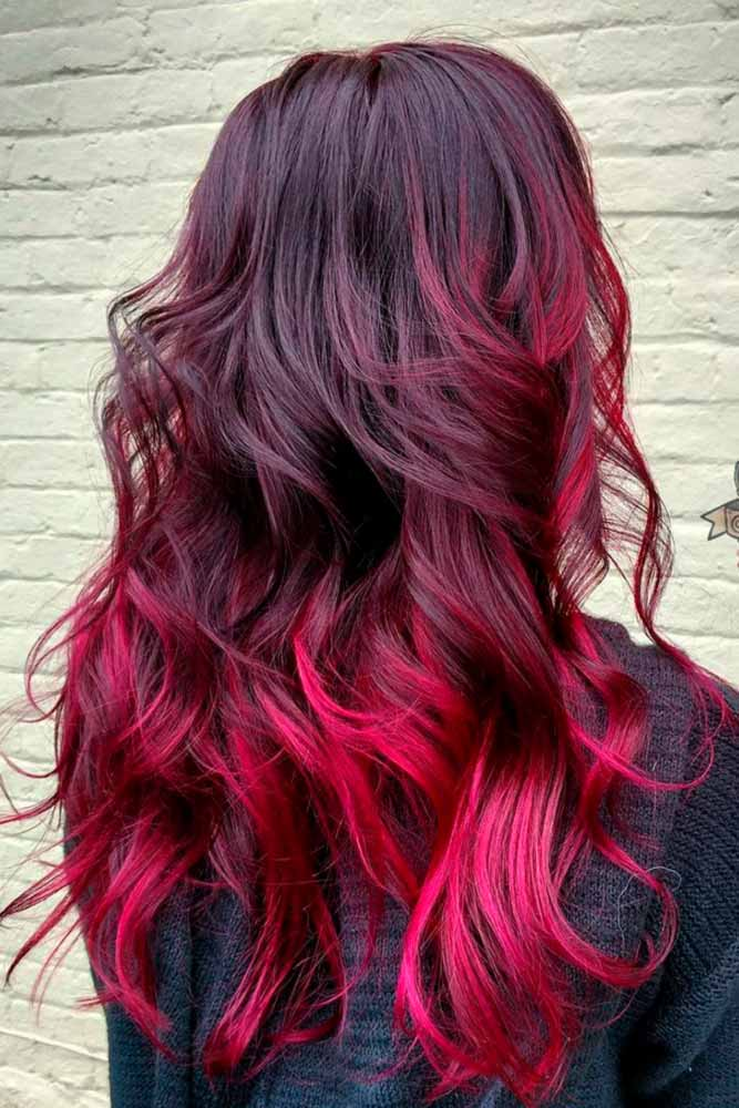 Burgundy to Bright Pink