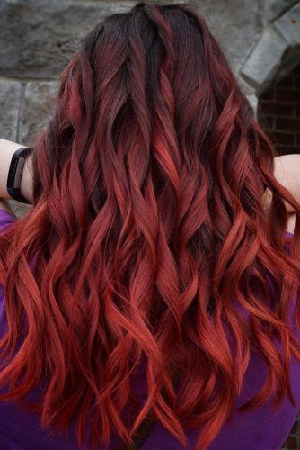 Red Rose Ombre #redhair #redombre