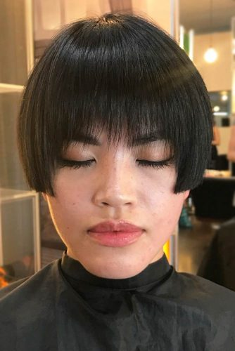 Bowl Bob with Layered Bang