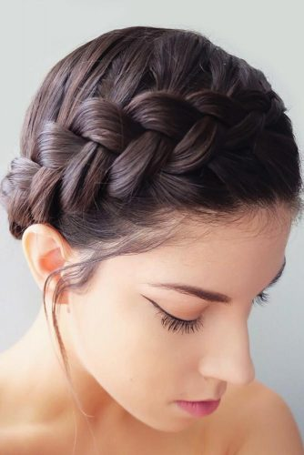 Updo Braids Hairstyles Halo #braisd #updo #shorthair