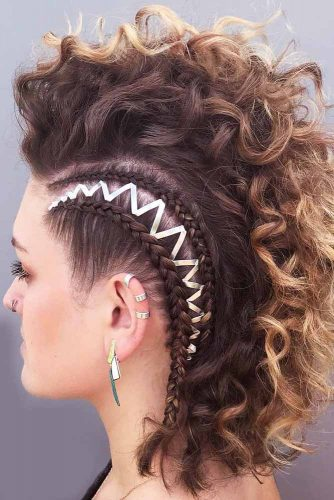 Hairstyles Ideas With Double Side Braids #braids #fauxhawk #shorthair #curlyhair