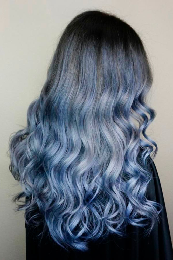 Denim Blue Ombre Hair