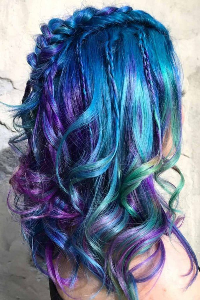 Magical Mermaid Waves Braids #blueombrehair #bluehair #ombrehair