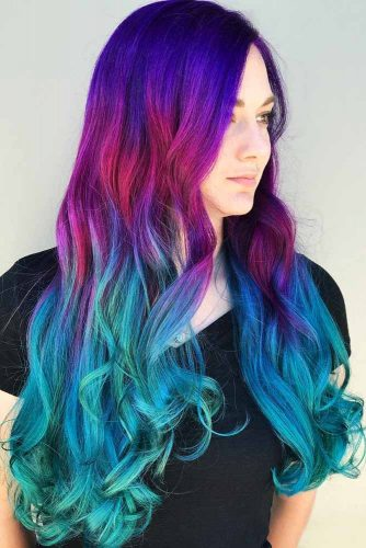Nightfall Aquatic Ombre #bluehair #purplehair #ombre