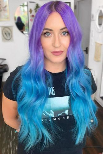 Purple & Arctic Blue #bluehair #bluombre #ombre