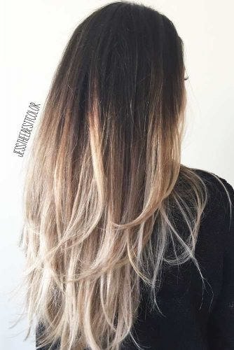 Two-Toned Jagged Long Layered Hair