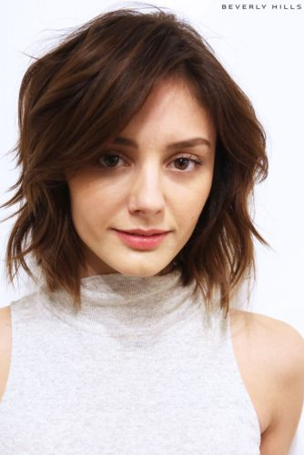 Cropped Layers with Piecey Bangs