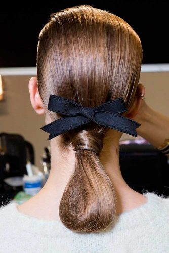Braided Updo With Ribbons