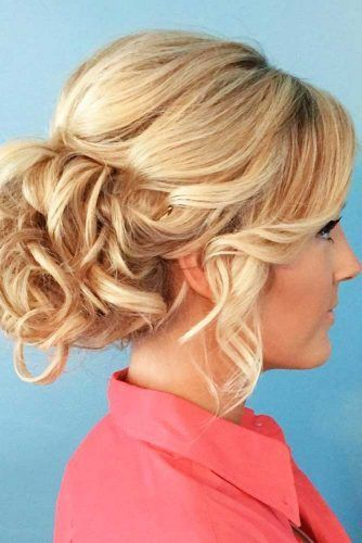 Soft, Curly Updo #updo #bun #curlyhair