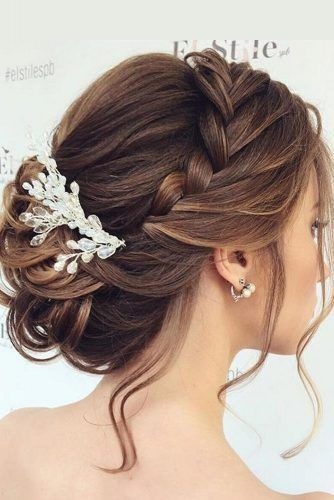 Elegant Braided Updos For Medium Hair #updo #mediumhair #braids