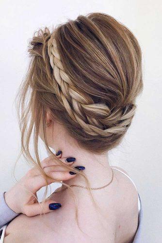Halo Braid #braidedcrown #halobraid #mediumhairstyles