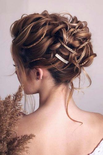 Luxury Updo With Little Braids #updo #mediumhair #hairstyles