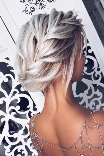 Voluminous Side Braided Updo #updo #mediumhair #hairstyles