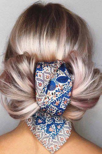 Spring Bow Tie Updo #updo #mediumhair #hairstyles