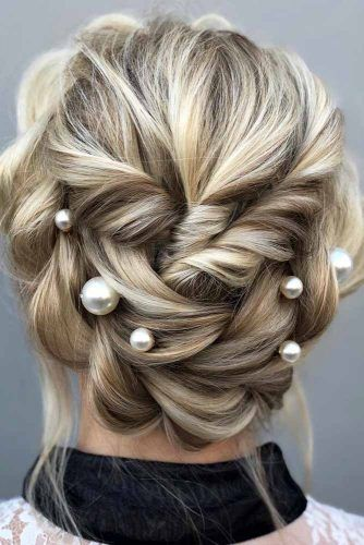 Twisted Halo Upstyle #updo #mediumhair #hairstyles