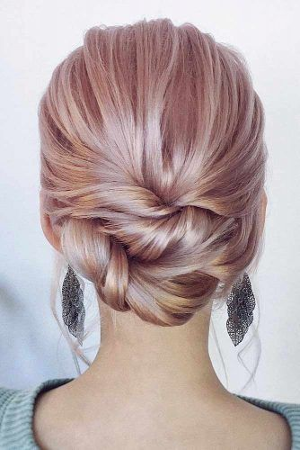 Elegant Twisted Bun #updo #braids #mediumhair