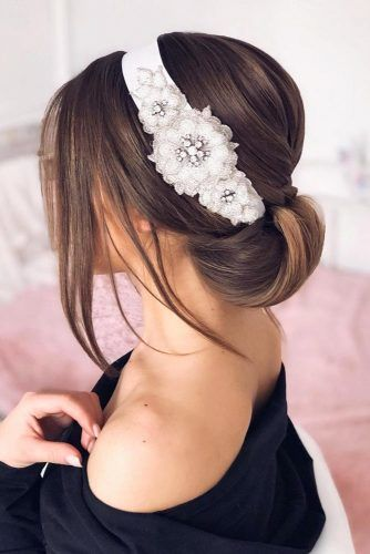 Elegant Updo With Headband #updo #mediumhair #hairstyles