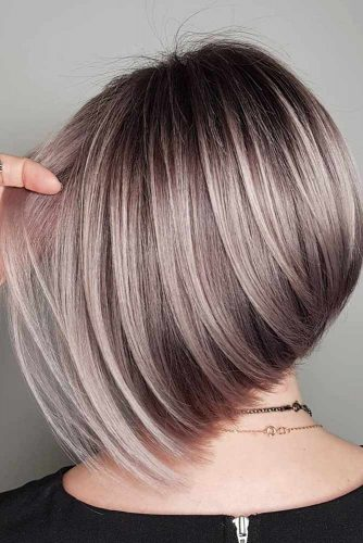 Choose Ombre Or Balayage For Your Short Hair Asymmetrical Bob #shorthair #shorthairideas #bobhaircut #hairstyles #asymmetricalbob