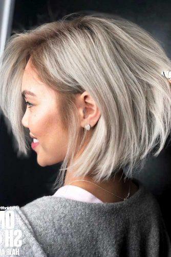 Straight Short Hair Styles Blonde Bob #shorthair #shorthairideas #bobhaircut #hairstyles #blondehair