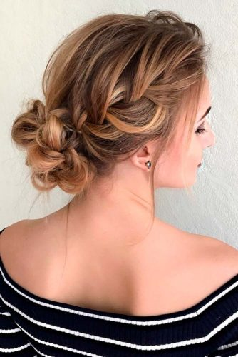 Braided Wedding Medium Hair picture2