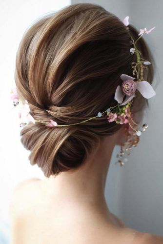 Hairstyles For Braids with Flowers #mediumhair #weddinghairstyles