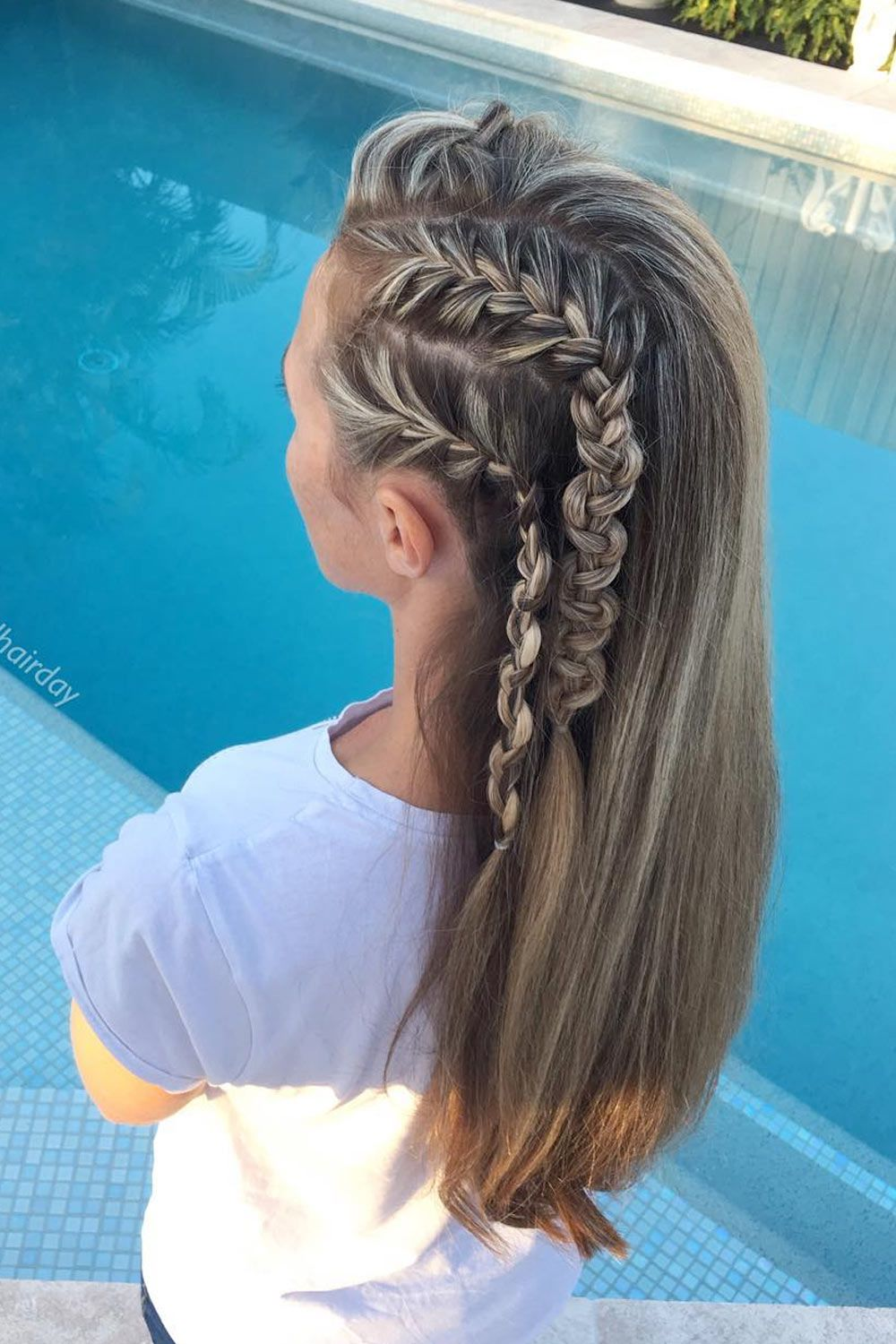Side Snake Braid Hairstyle