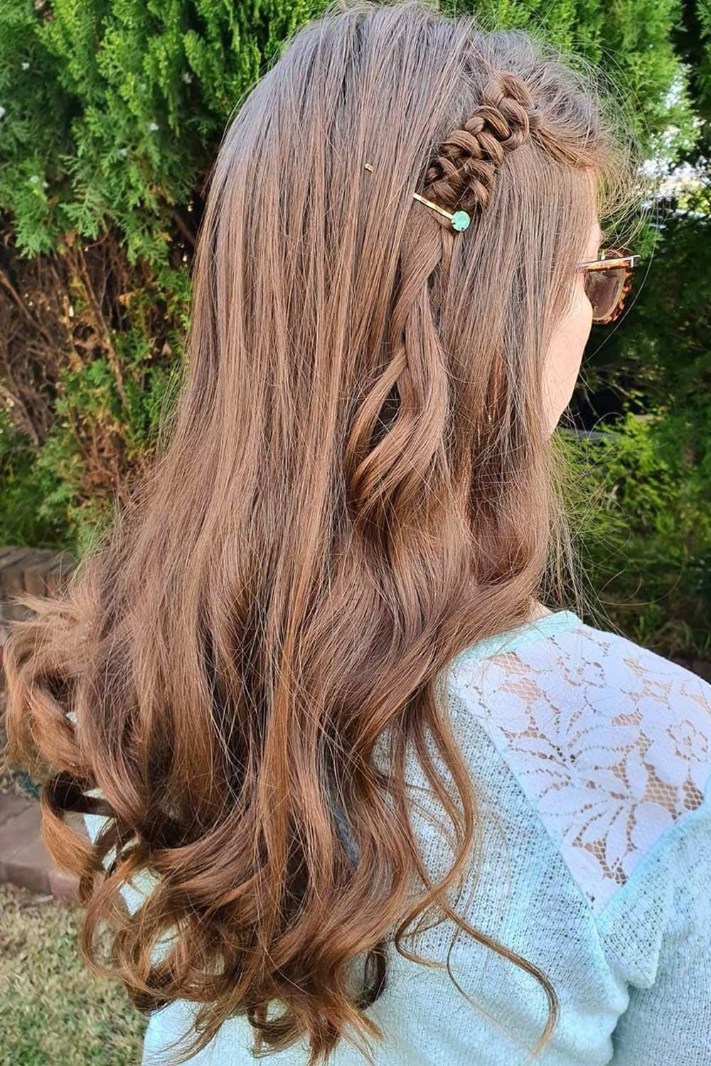 Long Brown Hair With Small Snake Braid