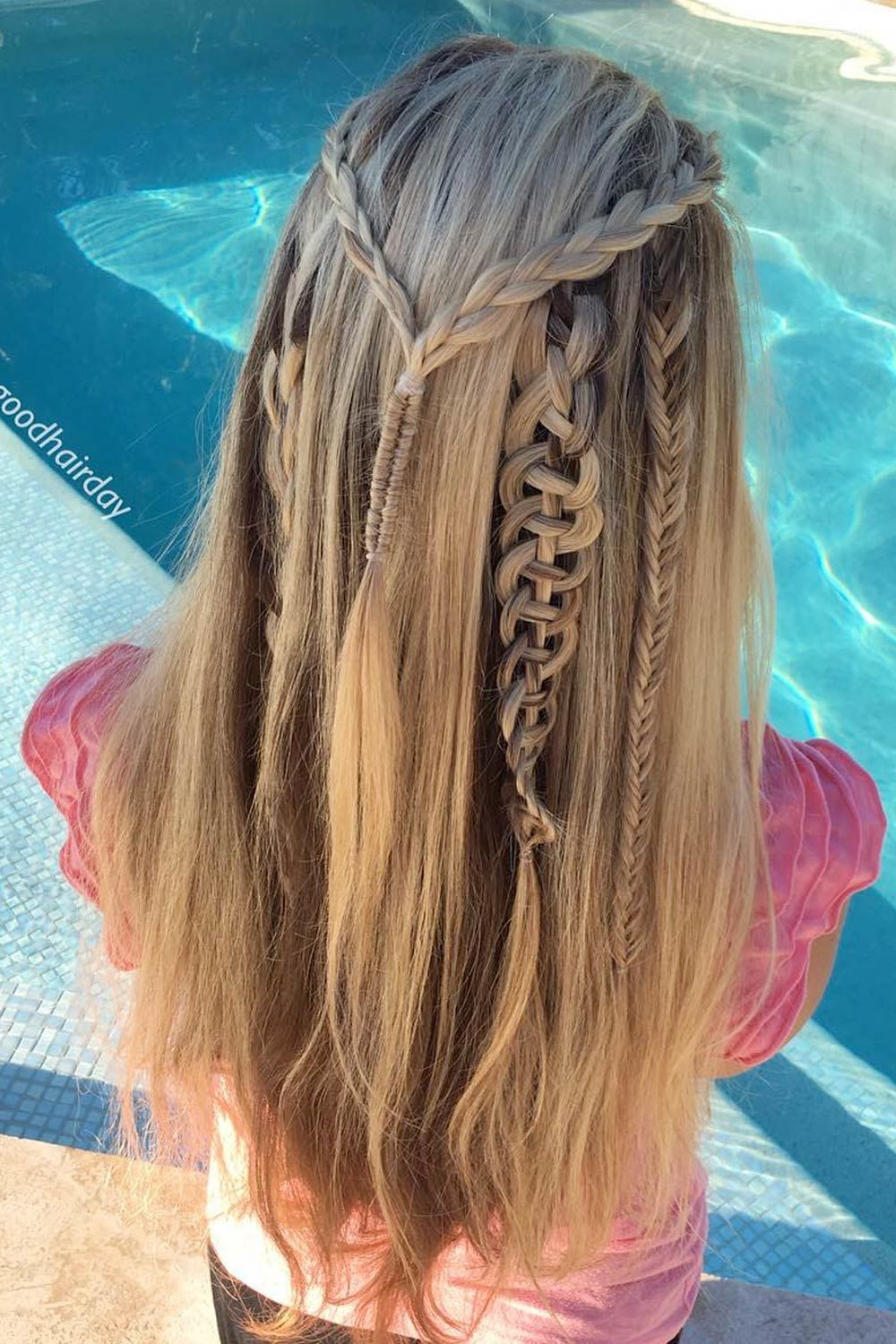 Long Hair Style With Snake Braids Accents