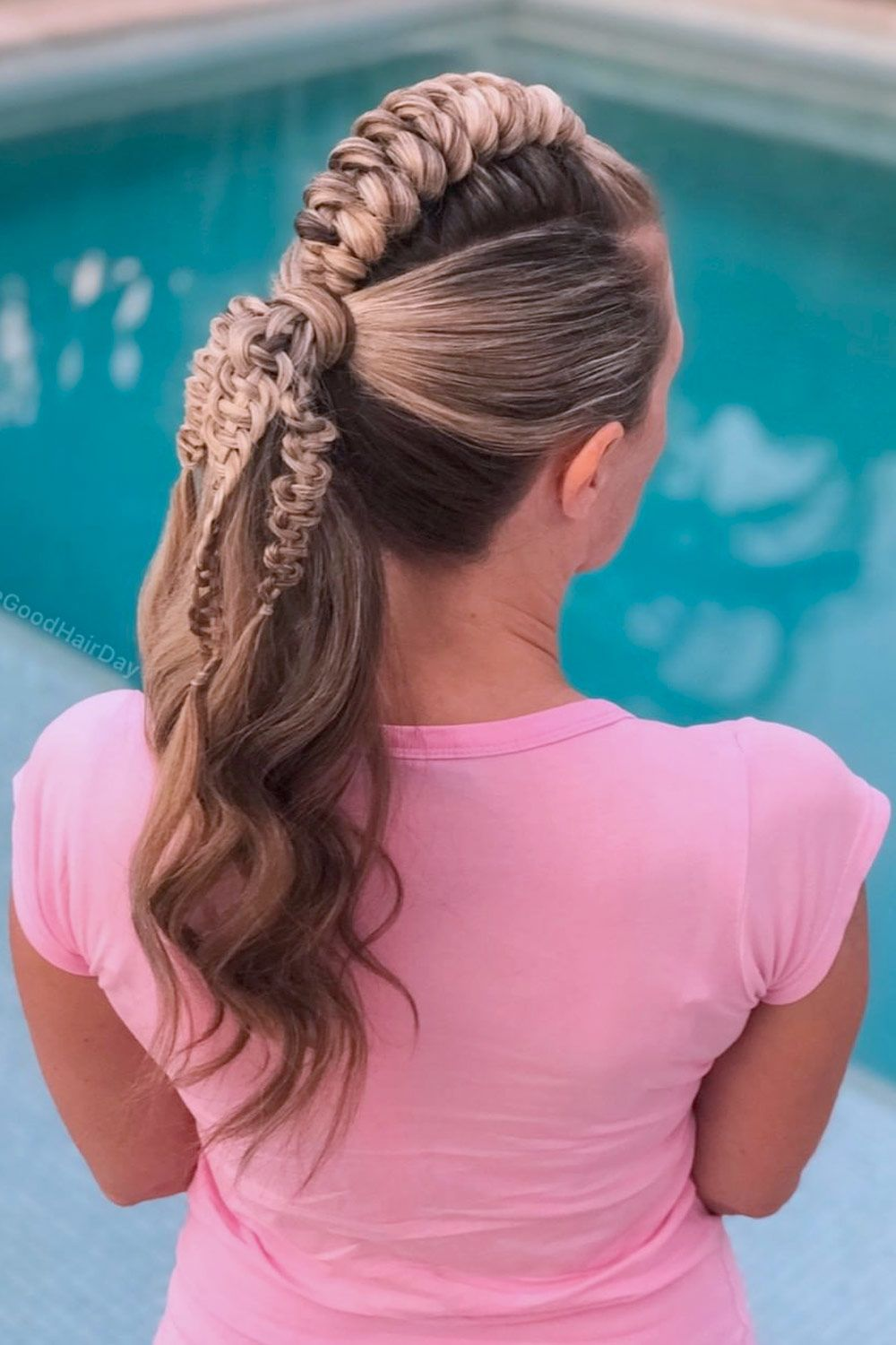 Ponytail With Snake Braid