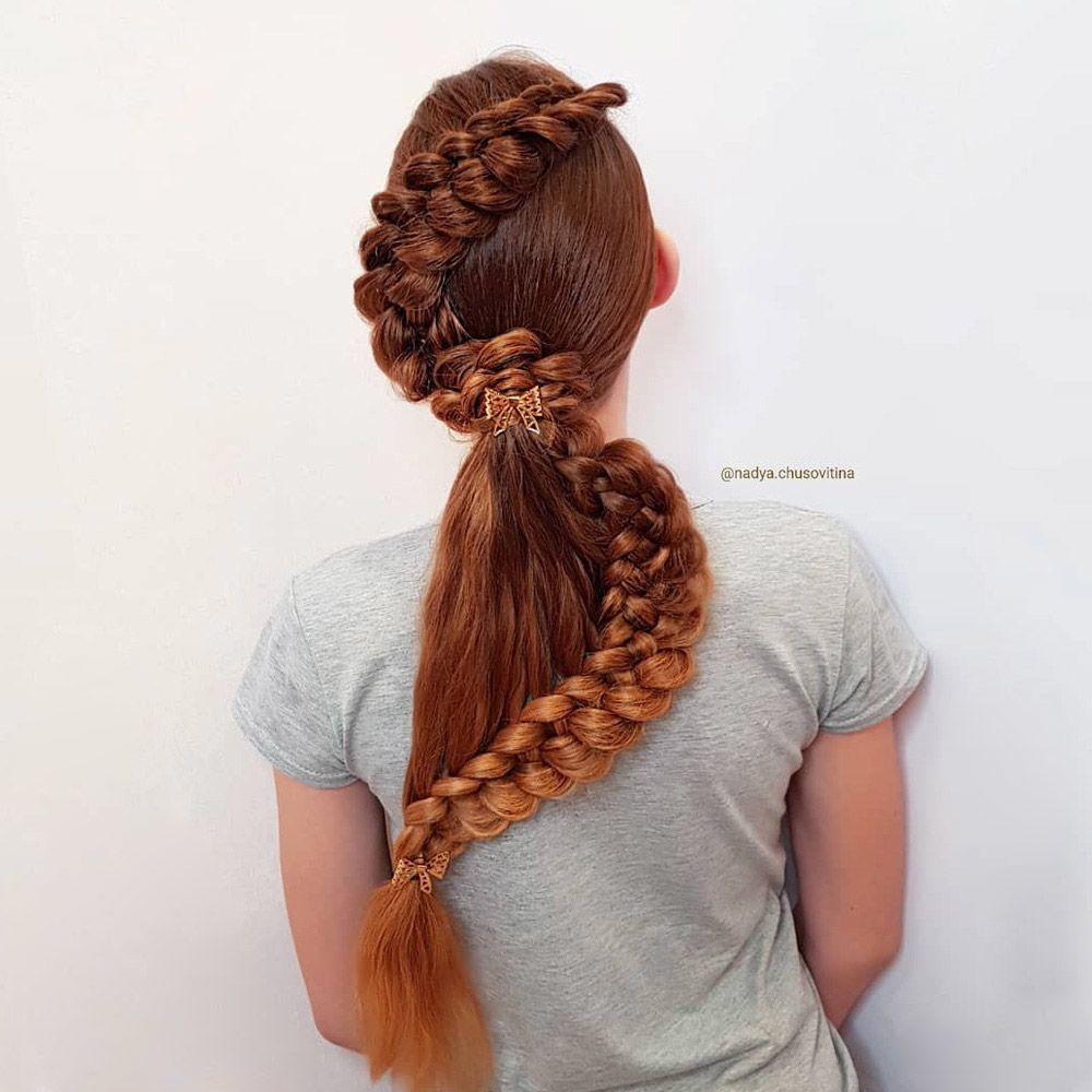 Snake Braid With Ponytail