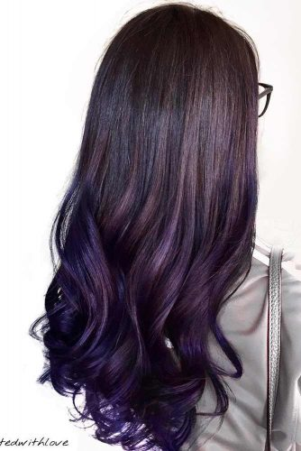 Dark Violet and Aubergine Hair Color picture2