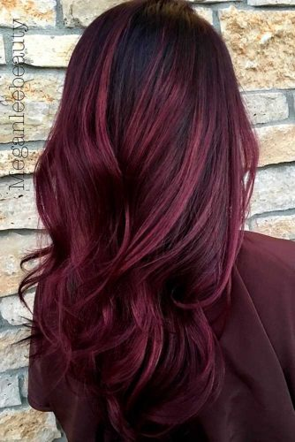 Dark Violet and Aubergine Hair Color picture1