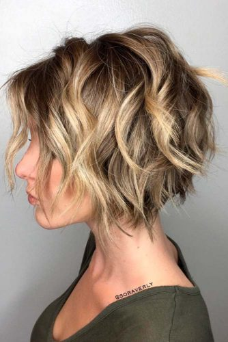 Dirty Blonde Curly Bob