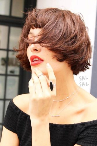 Trendy Short Hairstyles with Bangs picture 3