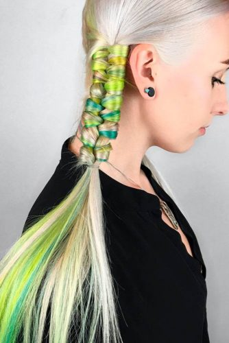 Juicy Green Strands of Hair picture2