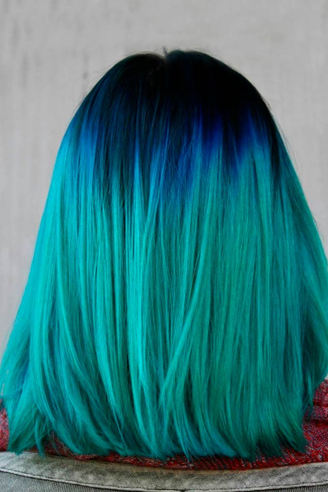 Beautiful Green Ombre on Bob Haircuts picture2