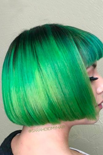 Beautiful Green Ombre on Bob Haircuts picture1